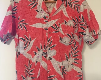 Barefoot Paradise Vintage Hawaiian Shirt Large