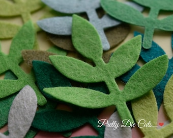 Felt Leaf Pack, Large Felt Leaves, Green Leaves,  Green Foliage, Floral Craft, Decorative Leaf, Leaf Shapes, Die Cut Craft Embellishment