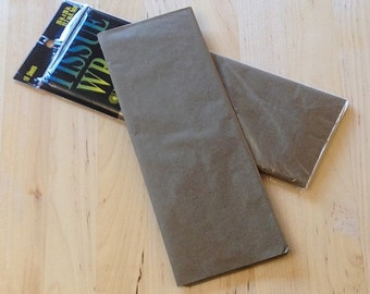 Brown Tissue Paper - 10 Sheets - Gift Wrap - Craft and Party Supplies