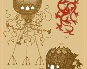 The Martian Menace A3 Art Print
