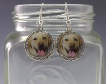 Lab Earrings Dog Puppy Pet Yellow White Labradore