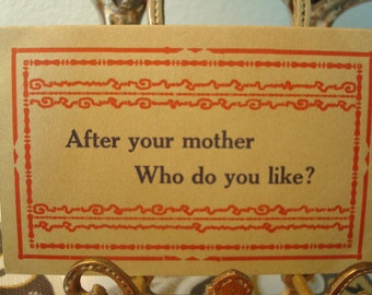 """Vintage """"After Your Mother Who Do You Like Best?"""" Postcard - Circa 1911 - Great Vintage Condition!!"""