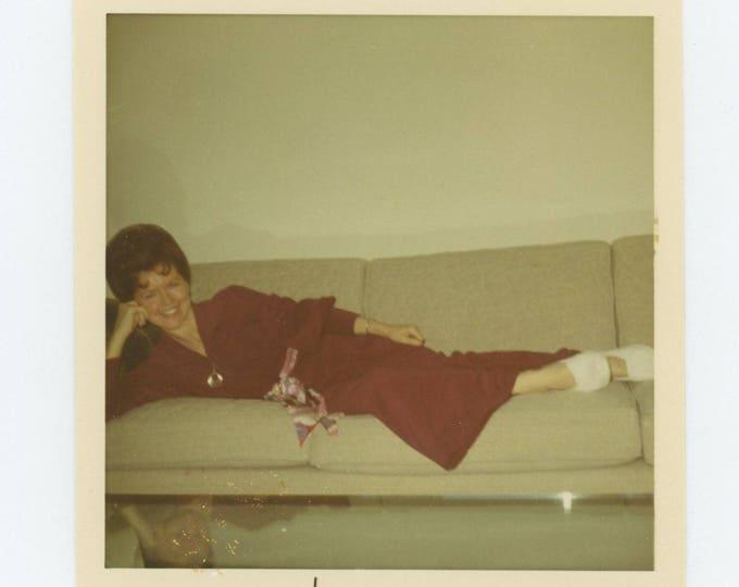 Vintage Snapshot Photo: Woman Reclining, c1970s (127624)