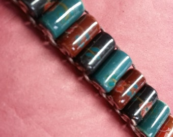 Porcelain Bead Abacus Golf Stroke Counter, Knitting Row Counter, Lap Counter, Ranger Beads, Prayer Beads, Free US shipping
