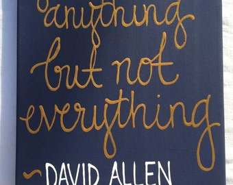 You can do anything but not everything painting