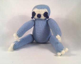 Crocheted Blue Sloth Plush