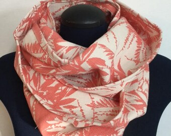 Infinity - Sunshine coral scarf