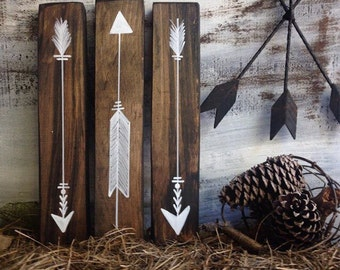 rustic arrow decor, wood arrow signs, woodland nursery, woodland decor, rustic nursery, boho arrow nursery, rustic home decor