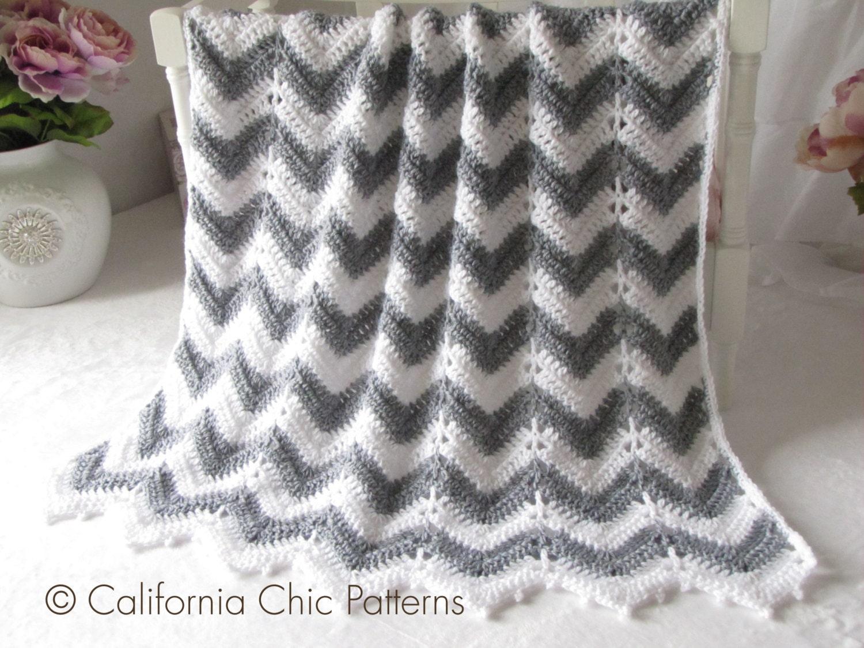 Crochet PATTERN 55 Crochet Baby Blanket Pattern Chevron : pattern for chevron baby quilt - Adamdwight.com