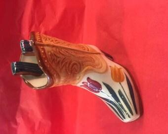 Ceramic cowboy boot
