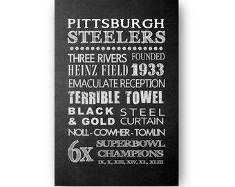 Pittsburgh Steelers Chalkboard Digital Download