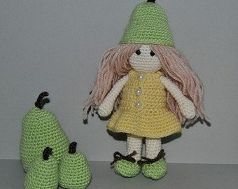 Instant Download - PDF Crochet Pattern - Little Pear Doll
