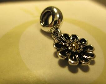 New Pandora Silver 925 Ale Black Oopsie Daisy CZ Bead Charm 791210