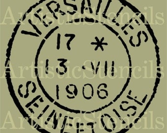 STENCIL Vintage French Versailles Postage Stamp - Various sizes