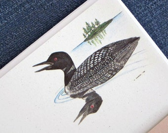 Recycled Paper Stationery Set - Loon, 100% Post-Consumer Recycled Content - Ecofriendly Gift