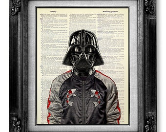 Darth Vader Poster, Star Wars Poster, Star Wars Art, Darth Vader Art, Star Wars Print, Darth Vader Print with Souvenir Jacket Dictionary Art