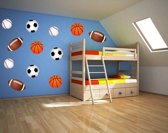 Sport Wall Art   Boys Room Wall Decals   Sports Wall Decals   Sports Theme  Room