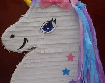 Unicorn pull string Pinata 17x12x4