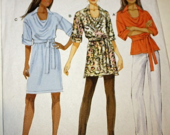 UNCUT, Butterick B5923, Top, Tunic, Dress and Belt, Sewing Pattern, Misses' Size Large, XLarge and XXLarge, OLD2NEWMEMORIES