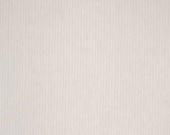 Beige Stripe Fabric, Beige and White Narrow Striped Cotton Fabric, Fine Striped  Cotton Fabric