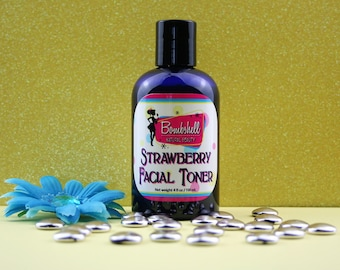 Strawberry Facial Toner, Facial Toner, Facial Mist, Facial Care, Face Toner