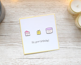 Birthday Cake Birthday Card; Present Card; Greetings Card; Cards for Him; Cards for Her; Handmade Card; Children's Birthday Card