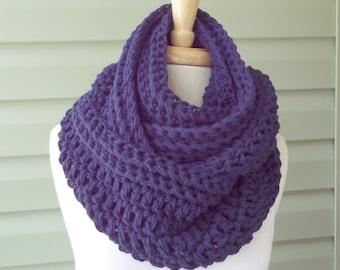 PATTERN S-092 / Crochet Pattern ... Oversized Infinity ... worsted 400 yards / chunky 200 yards