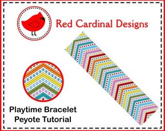 Playtime Bracelet Peyote Tutorial