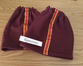 Maroon Fleece Stirrup Covers