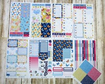 Colorful Wings Weekly, BIG HAPPY PLANNER, Butterfly weekly kit, Spring weekly, floral weekly