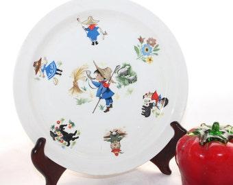 "Jack Horner Brendan Erin Stone Arklow Salad Plate -- 7.75"" -- Ceramic, Nursery Rhymes, Arklow, Ireland"