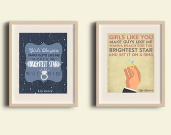 More Girls Like You | Kip Moore | Song Poster | Music Poster | Printable