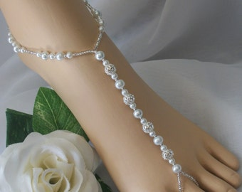 FLASH SALE Bridal Barefoot Sandals Foot Jewelry Anklet