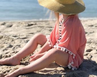Pink kimono/baby kimono/ toddler kimono/ bathing suit cover up