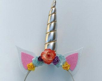 Unicorn Headband, Unicorn Ears