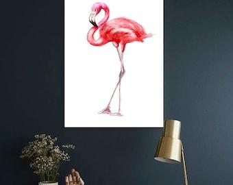 Flamingo watercolor print Flamingo Art print Flamingo Wall decor Flamingo watercolor print Flamingo wall decor Flamingo home decor