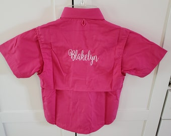 TODDLER  Fishing Shirt/ Monogrammed --Sizes  12 MONTHS--2/3 and 4/5-