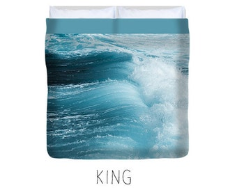 Ocean duvet, ocean bedding, blue duvet cover, bedroom decor, ocean decor, ocean bedroom, turquoise, surfer, fresh, king, queen, double, twin