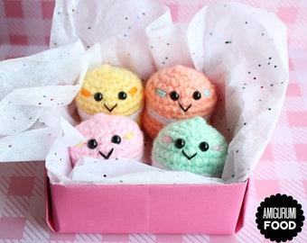 Crochet Food Amigurumi Food Crochet Macarons (Set of 4) Ready to ship! Macaron Plushies!