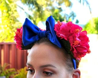 Pink Hibiscus Minnie Ears