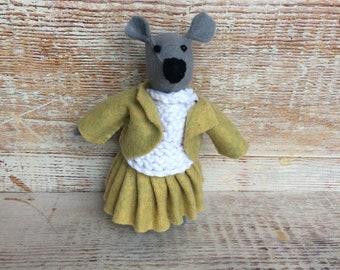 Felt mouse, grey mouse