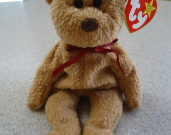 Vintage 1993 Ty Curly the Bear Beanie Baby