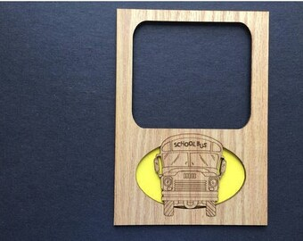 DISCONTINUED 5x7 School Bus Picture Frame, Gift for Bus Driver, Ready to Ship