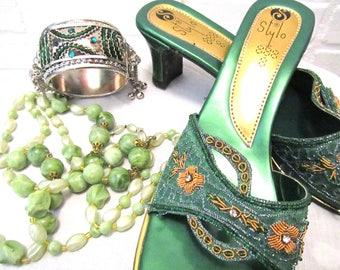 VINTAGE shoes with Complimentary vintage Jewellery
