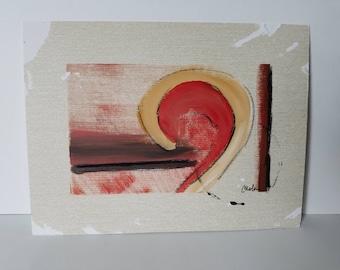 "Mixed Media Acrylic Painting ""Ridge II"""