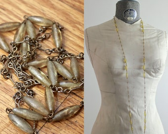 20s Necklace • Art Deco Jewelry • 1920s Necklace • Amber Beaded Necklace • Yellow Lucite Necklace • Flapper Necklace • Roaring 20s Necklace