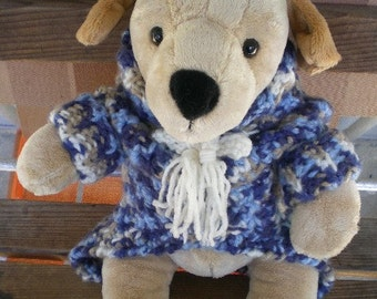 dogs, sweaters, dog sweater, blue, white, crown, dog accessories, dog clothing, sweater, animal clothing, crochet