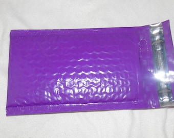 25 Pack  Purple 4x8 Bubble Mailers, Padded envelopes,Fluorescent Pink Mailing Neon Pink Shipping Envelopes