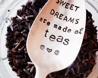 Bestie Spoon, Tea Spoon, Stamped Silver Spoon, Tea, Sweet Dreams Spoon, Soul Sisters, Stamped Silver, Silver Spoon, Friend Gift, Tea Lover