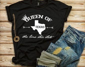 Queen Of Texas T-shirt, Texas Women's Shirt, Queen T-shirt